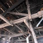 梁構造の工房は柱が少ない