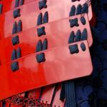 甲冑の美しい赤