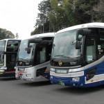 九州一円から続々バスが到着