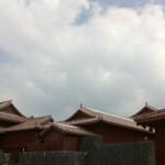 琉球時代の赤瓦が美しい首里城