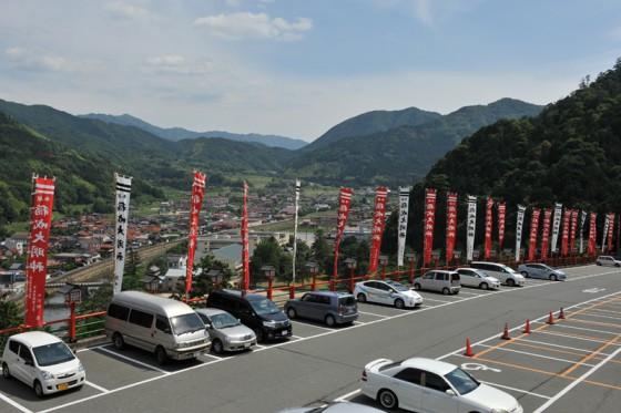 太皷谷稲成神社から眺める津和野