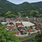太皷谷稲成神社から見下ろす津和野小