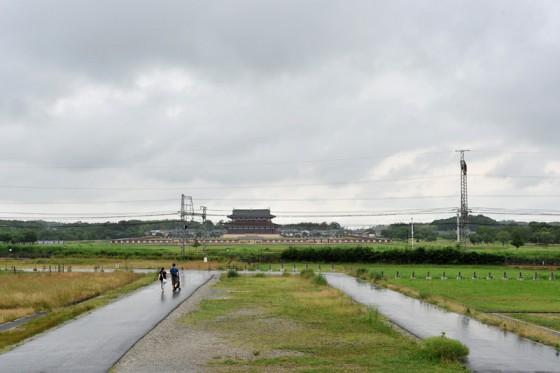 飛鳥から平城京朱雀門へ続く日本最古の国道