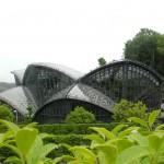 美しい外観の放蝶温室