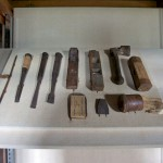 改修で見つかった江戸時代の大工道具
