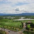 ビュー福島潟屋上からのすばらしい眺望