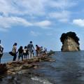 珠洲の名勝「見附島」も珪藻土で出来ている