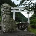 円空の仏像を連想させる狛犬