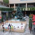 南館パティオで遊ぶ子供たち