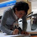日本地図をかたどった横断幕に被災地への温かいメッセージもいただいた