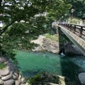 この新橋から吉田川へ飛び込む