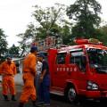 消防署からポンプ車が到着