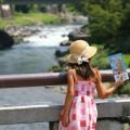 夏休みに遊びにきた子供も多い