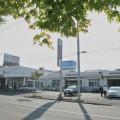 札幌トヨタ北光支店。朝の光が眩しい