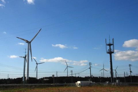 全体で64基もの風車が並ぶ