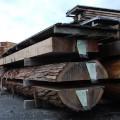 製材されるブランド木材「金山杉」