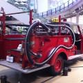 ランクル60周年展示も開催中。写真の「FJ55消防車」「アジアンラリーFJ(あきんど号)」ほか多数展示