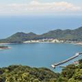 千坊山から象鼻ヶ岬を望む