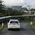 井戸と発電所を繋ぐパイプライン