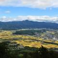高清水山頂から一望する遠野