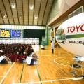 350人が入場して飛行船エネルギー教室が始まった