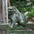 隣接する常堅寺のかっぱ狛犬