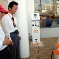 福島店で充電しながらインタビュー