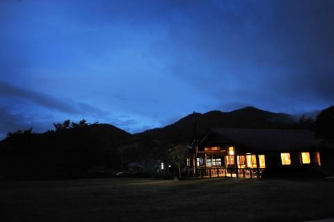新日本百名山「七時雨山」の夕暮れ