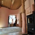 温かみのある宿泊棟室内