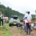 菜種の収穫が終わり肥料を撒く作業に追われていた