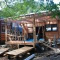 新しく森の図書館を増築中