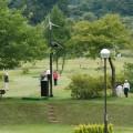 朝から賑わいを見せるパークゴルフ場