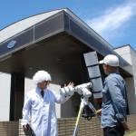 太陽望遠鏡を準備して出迎えてくれた「那珂博士」