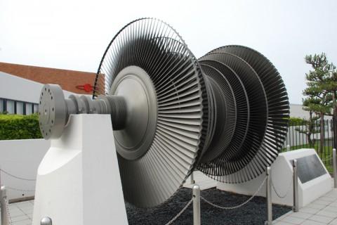 日本初の原発で使われていたタービン