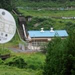 水量豊富な里美の水力発電所