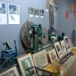 採掘の歴史が展示されている
