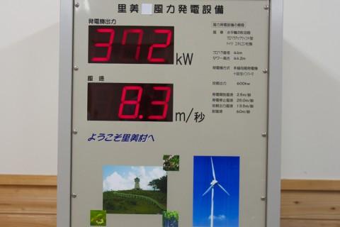 風車の発電量を表示中