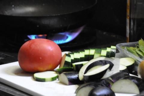 地産の新鮮野菜たち