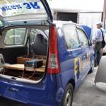 再生パーツで製作したEVカー
