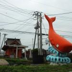 鯨漁が盛んだった大洗のモニュメント