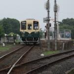 レトロな車輛の鹿島臨界鉄道