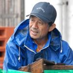 引き締まった表情が魅力的な漁師の茂刈さん