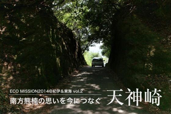 海岸へと続く切り通しは、まるで森のトンネルのようだ