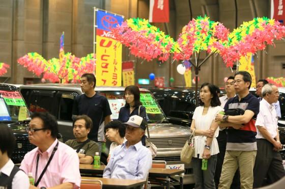 エコミッション展示イベントは立ち見が出る程の盛況ぶり。