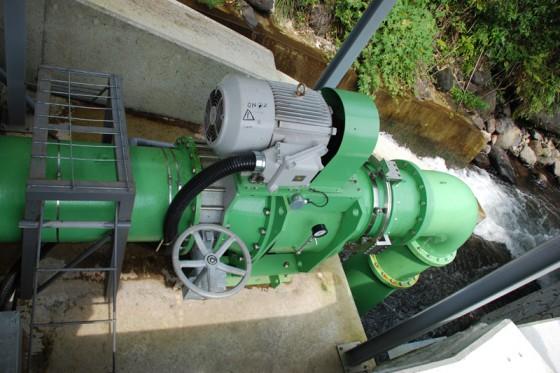 小水力発電ユニット(最大出力19kw)