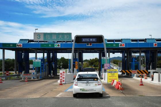 大分自動車道から長崎自動車道を経由して佐賀に到着。