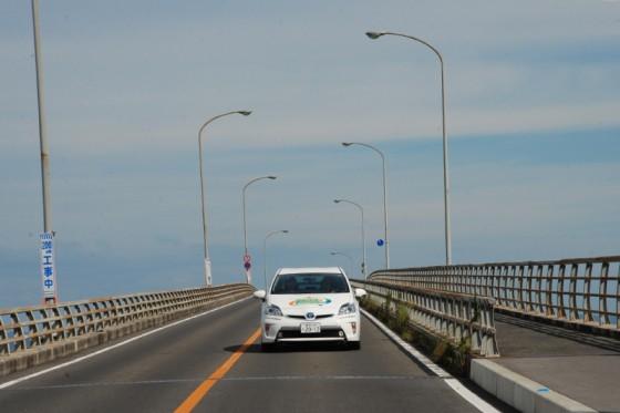 筑後川の河口付近には橋脚が長く高い橋が数多く掛かっている。