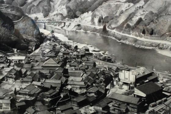 ダム建設以前、昭和30年頃の荒瀬地区(複写:地域情報館)