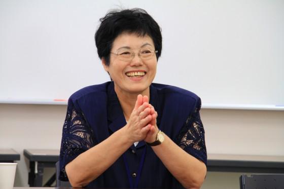 トヨタ飛行船エネルギー教室の開催を心待ちにしていたという古賀校長先生。