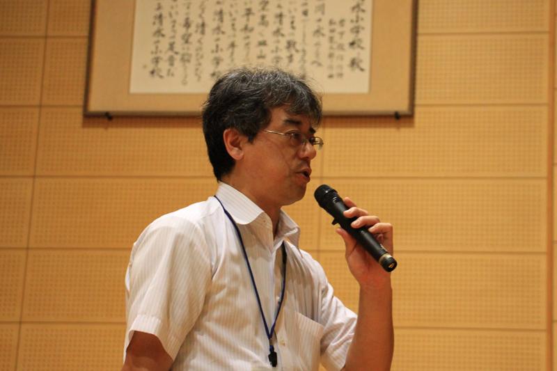 宮本校長先生の挨拶でトヨタ飛行船エネルギー教室が始まった。